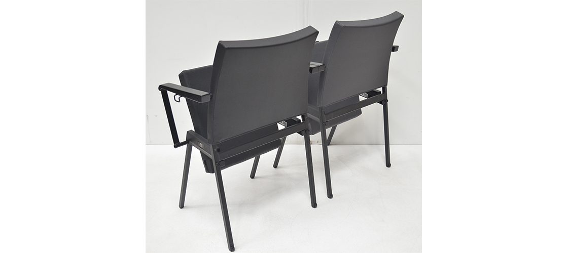 Series Seating-Vinyl Chairs-Back Left Isometric View