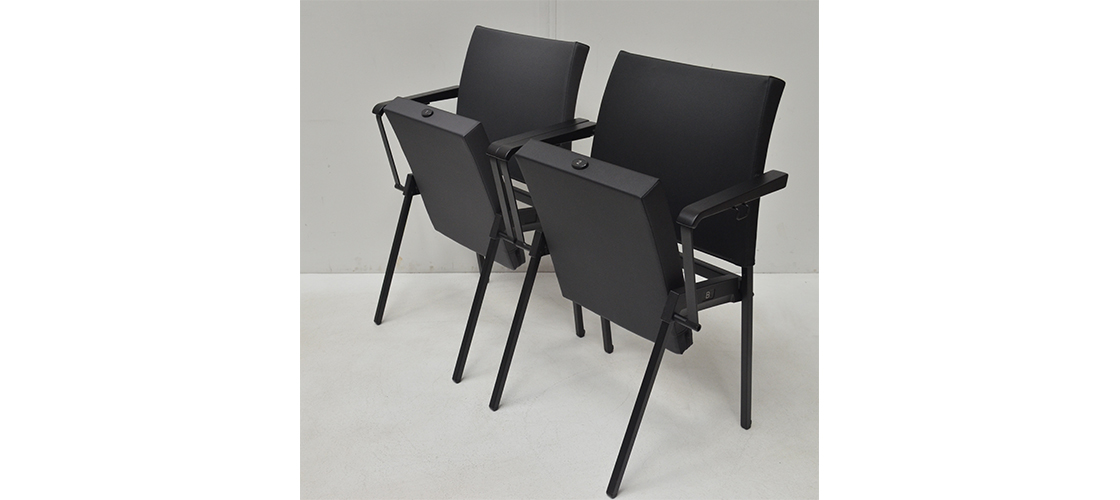 Series Seating-Vinyl Chairs- Left Isometric View